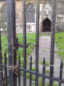 locked church