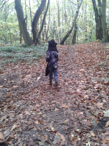 Boy in Woods Write for a Reason