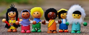 wooden dolls from different cultures