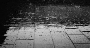 rain on pavement