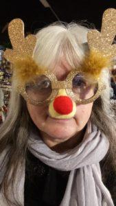 Janet Wilson in disguise as a reindeer!