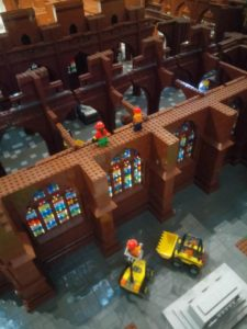 Lego model of Chester cathedral